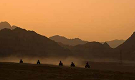 Quad Runner Sunset at Wadi El Khoroum