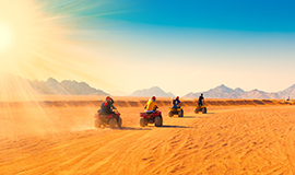Quad Runner, Camel ride, Dinner & Folklore show at Wadi El Khoroum